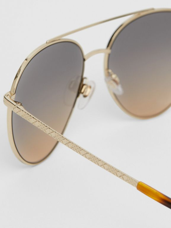 Pilot Sunglasses in Brown - Women | Burberry United Kingdom - cell image 1