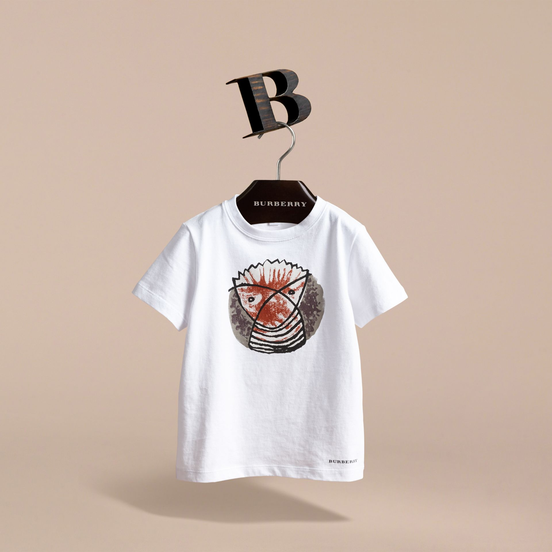 Pallas Heads Print Cotton T-shirt in White | Burberry - gallery image 3