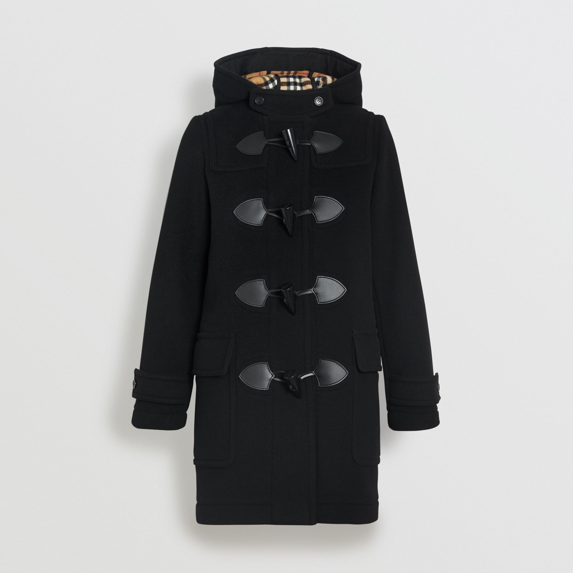 Wool Blend Duffle Coat in Black - Women | Burberry Hong Kong - gallery image 3