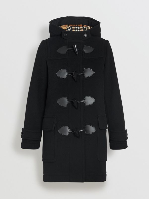 Wool Blend Duffle Coat in Black - Women | Burberry Hong Kong - cell image 3