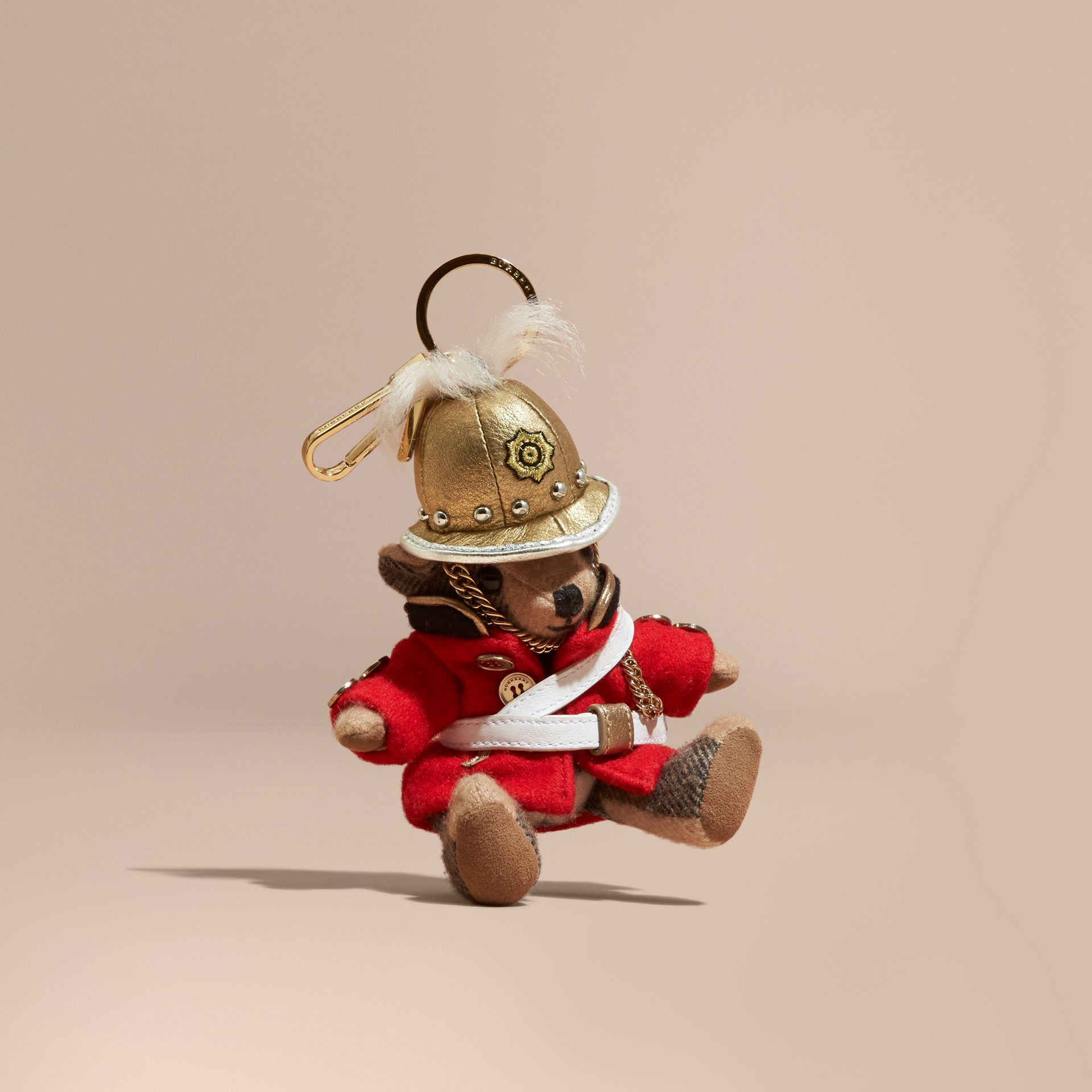 The Regimental Thomas Bear Charm in Camel | Burberry - gallery image 1