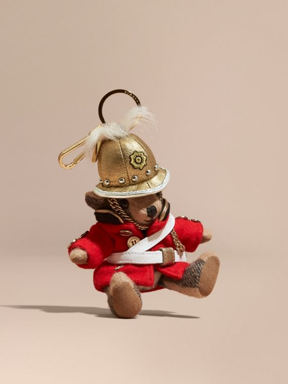 The Regimental Thomas Bear Charm in Camel