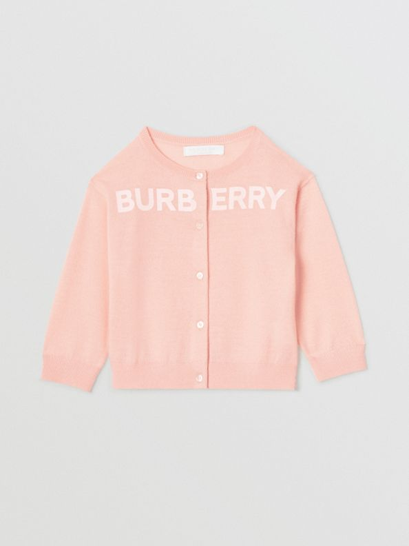 Conjunto de cashmere com estampa de logotipo (Rosa Pink Claro)