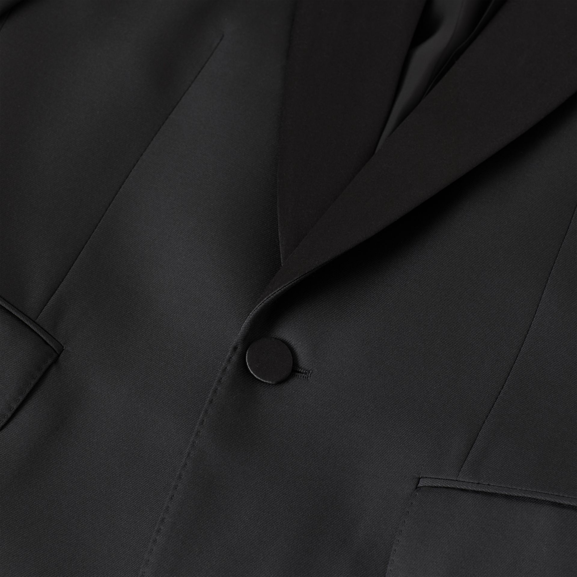 Classic Fit Wool Silk Tuxedo in Black - Men | Burberry - gallery image 9