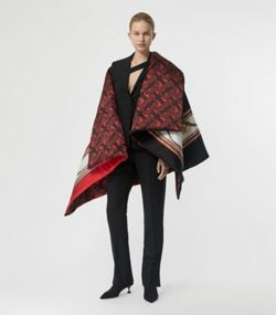 794d6cd84 Ponchos & Capes. Archive Scarf Print Silk Satin Oversized Puffer Cape in  Crimson. Archive Scarf Print Silk Satin Oversized Puffer Cape in Crimson