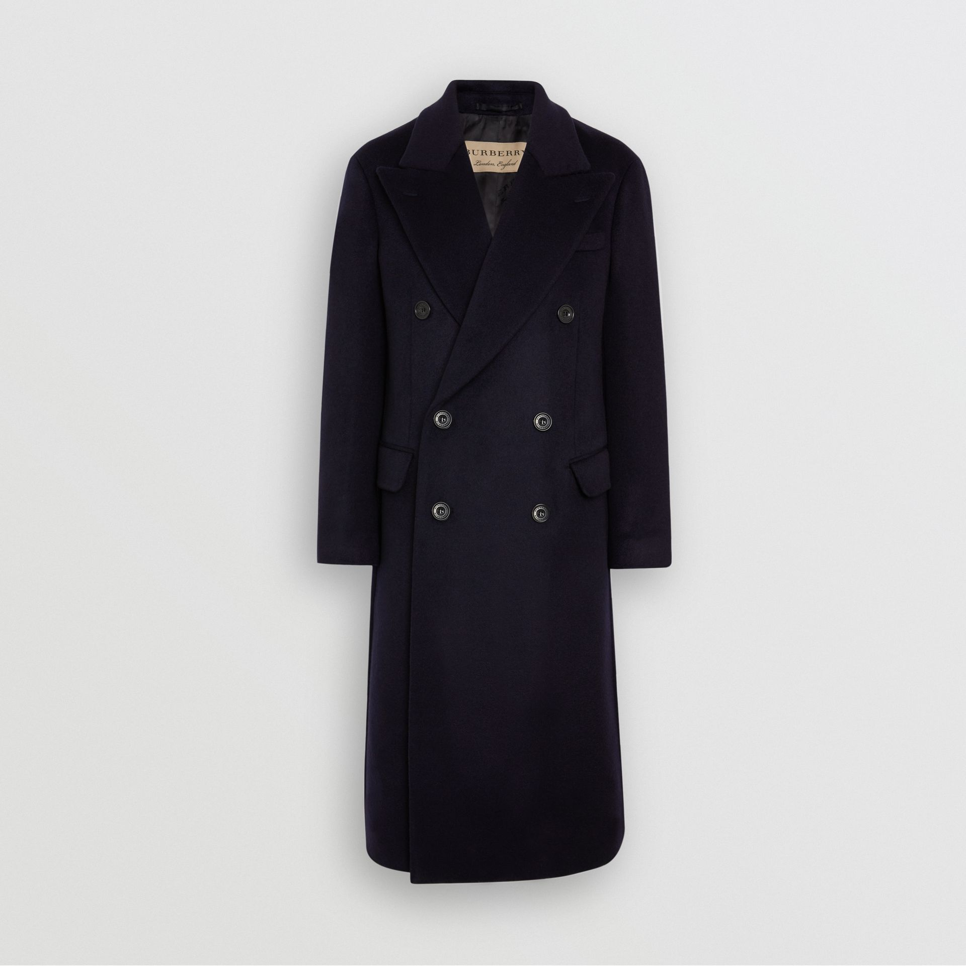 Double-faced Cashmere Tailored Coat in Navy - Men | Burberry United States - gallery image 3