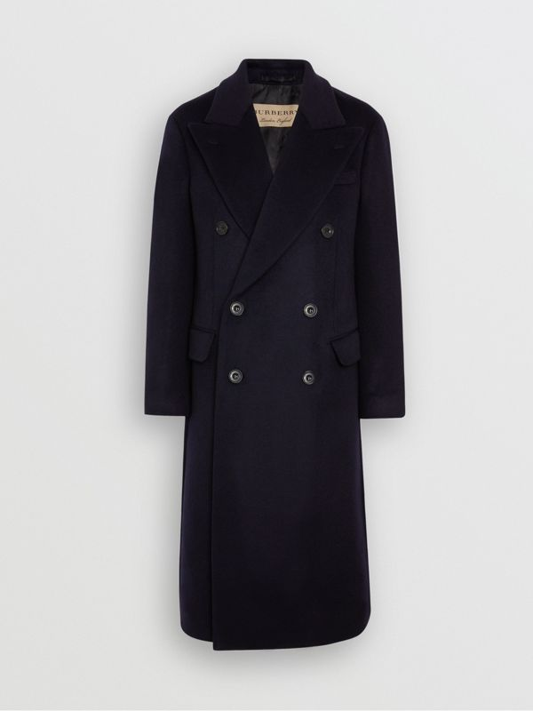 Double-faced Cashmere Tailored Coat in Navy - Men | Burberry Singapore - cell image 3