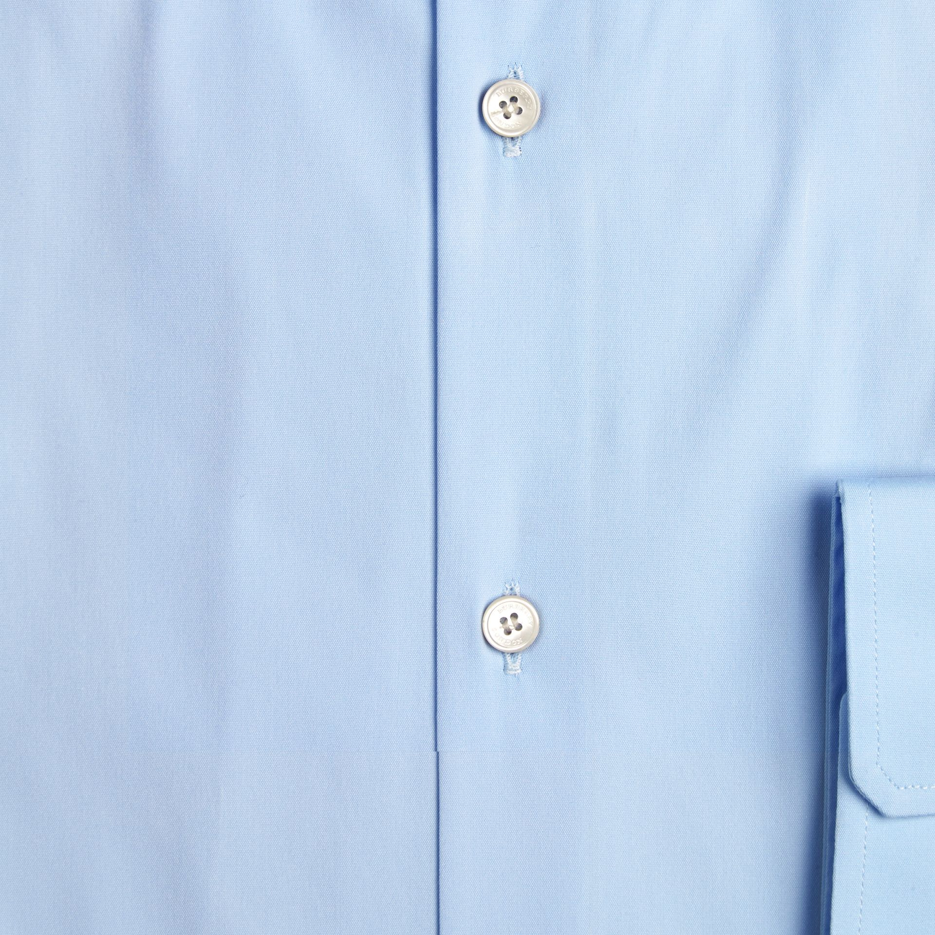 Modern Fit Button-down Collar Stretch Cotton Shirt in City Blue - gallery image 2