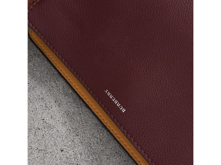 Medium Tri-tone Leather Clutch in Deep Claret/dusty Rose - Women | Burberry Hong Kong - cell image 1