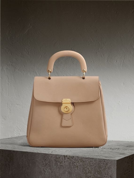 The Large DK88 Top Handle Bag in Honey - Women | Burberry