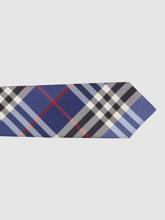 Classic Cut Check Silk Jacquard Tie in Navy - Men | Burberry Hong Kong S.A.R - cell image 1