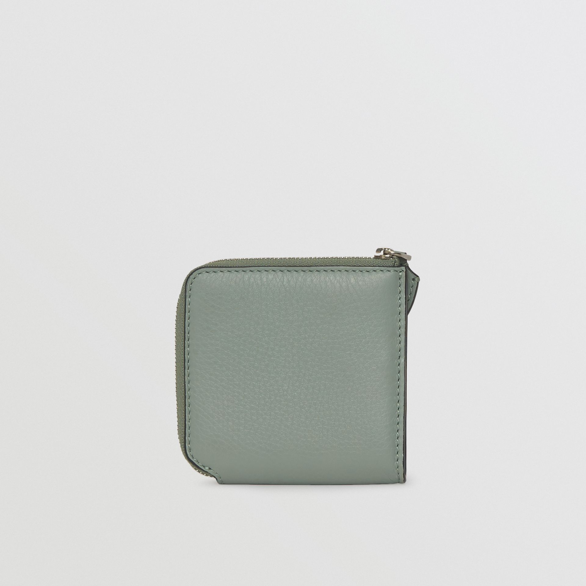 Grainy Leather Square Ziparound Wallet in Grey Blue - Women | Burberry - gallery image 2