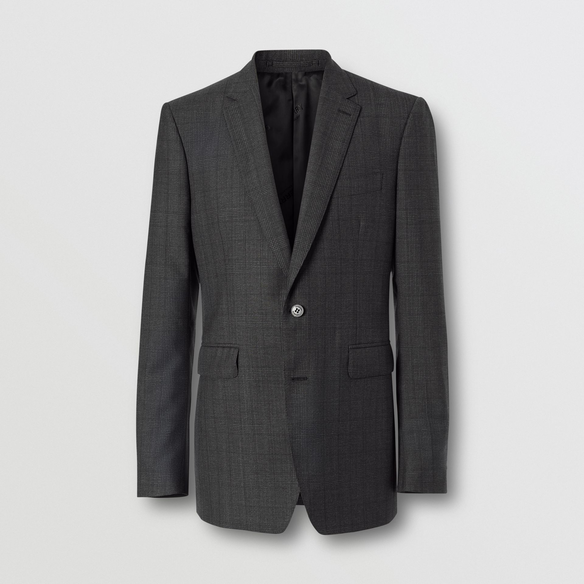 Classic Fit Check Wool Three-piece Suit in Charcoal Melange - Men | Burberry - gallery image 3