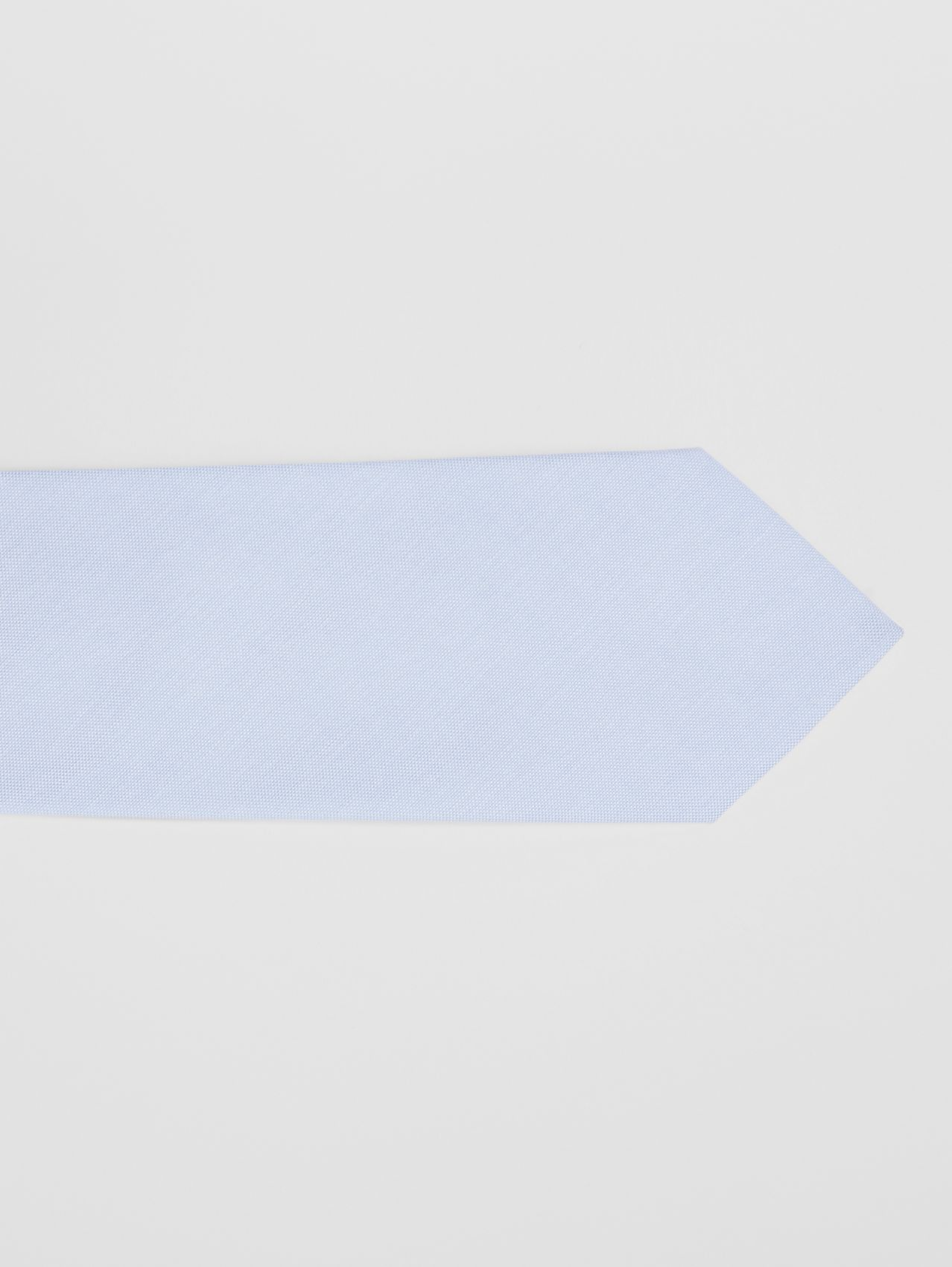 Classic Cut Cotton Tie in Pale Blue