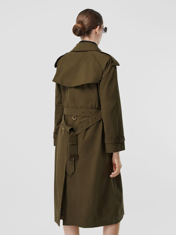 The Long Westminster Heritage Trench Coat in Dark Military Khaki - Women | Burberry Hong Kong S.A.R - cell image 2