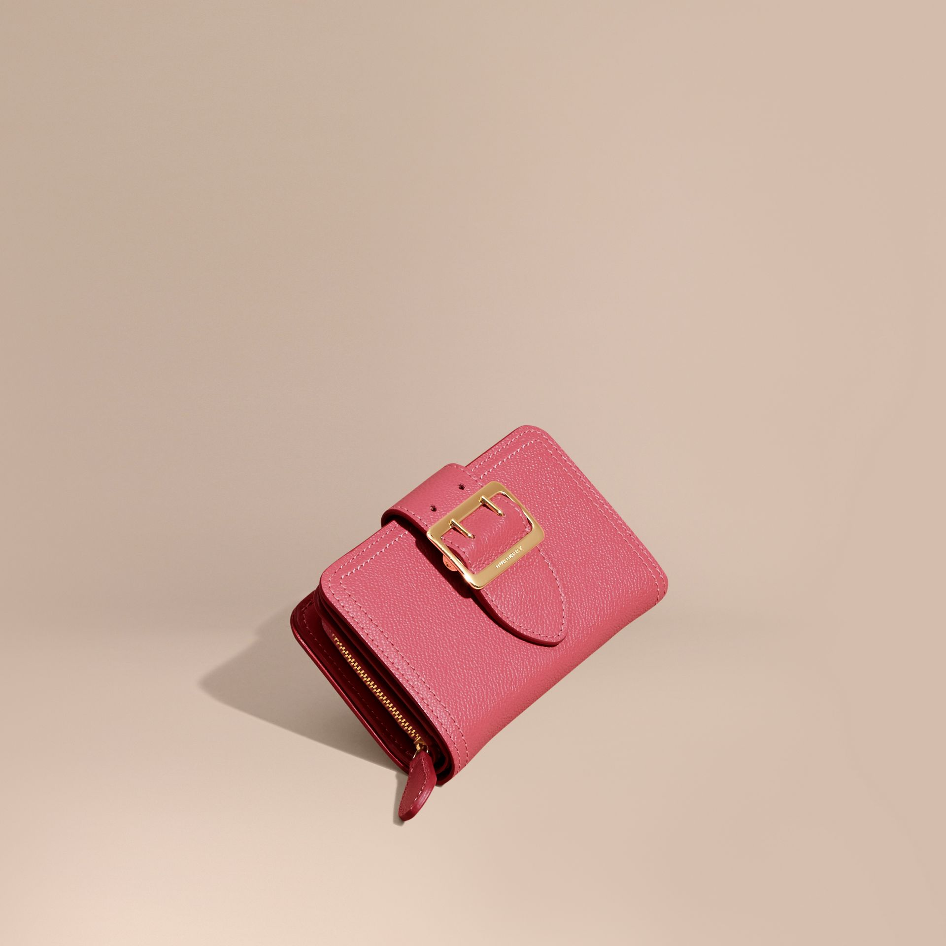 Pink azalea Buckle Detail Grainy Leather Wallet Pink Azalea - gallery image 1