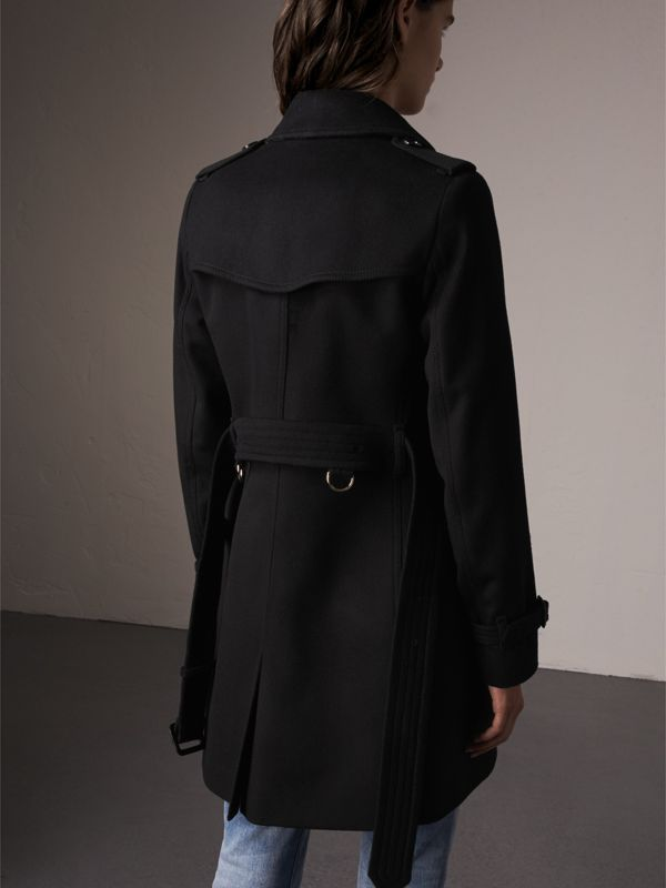 Wool Cashmere Trench Coat in Black - Women | Burberry - cell image 2