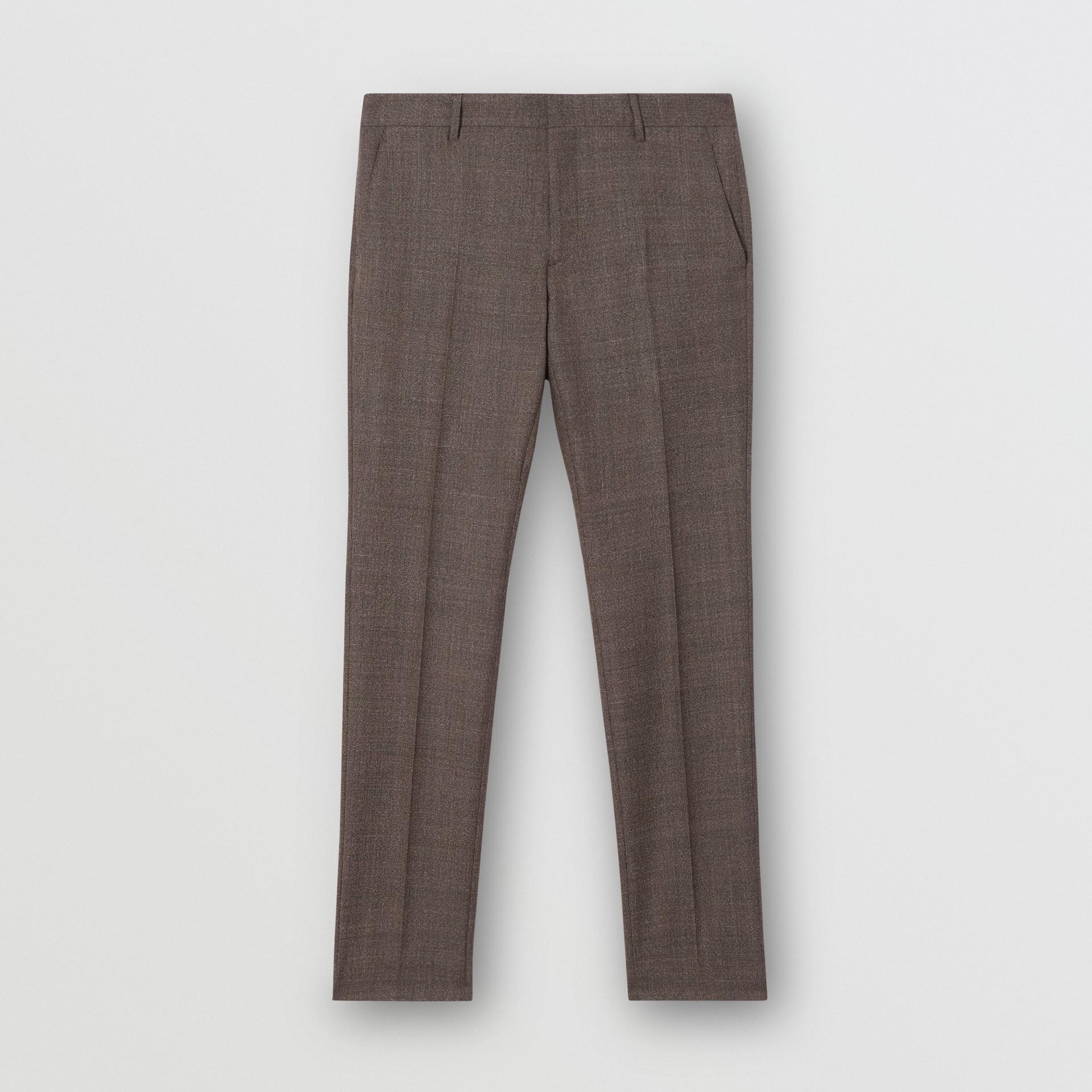 Slim Fit Wool Suit in Dark Brown - Men | Burberry - gallery image 7