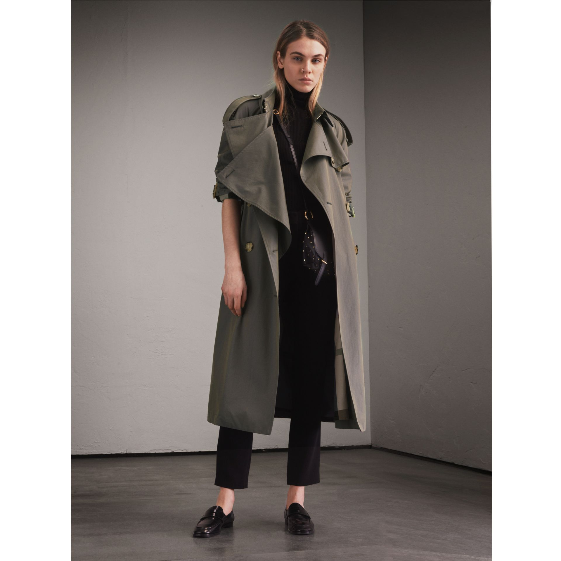 Tropical Gabardine Trench Coat in Storm Blue - Women | Burberry - gallery image 1