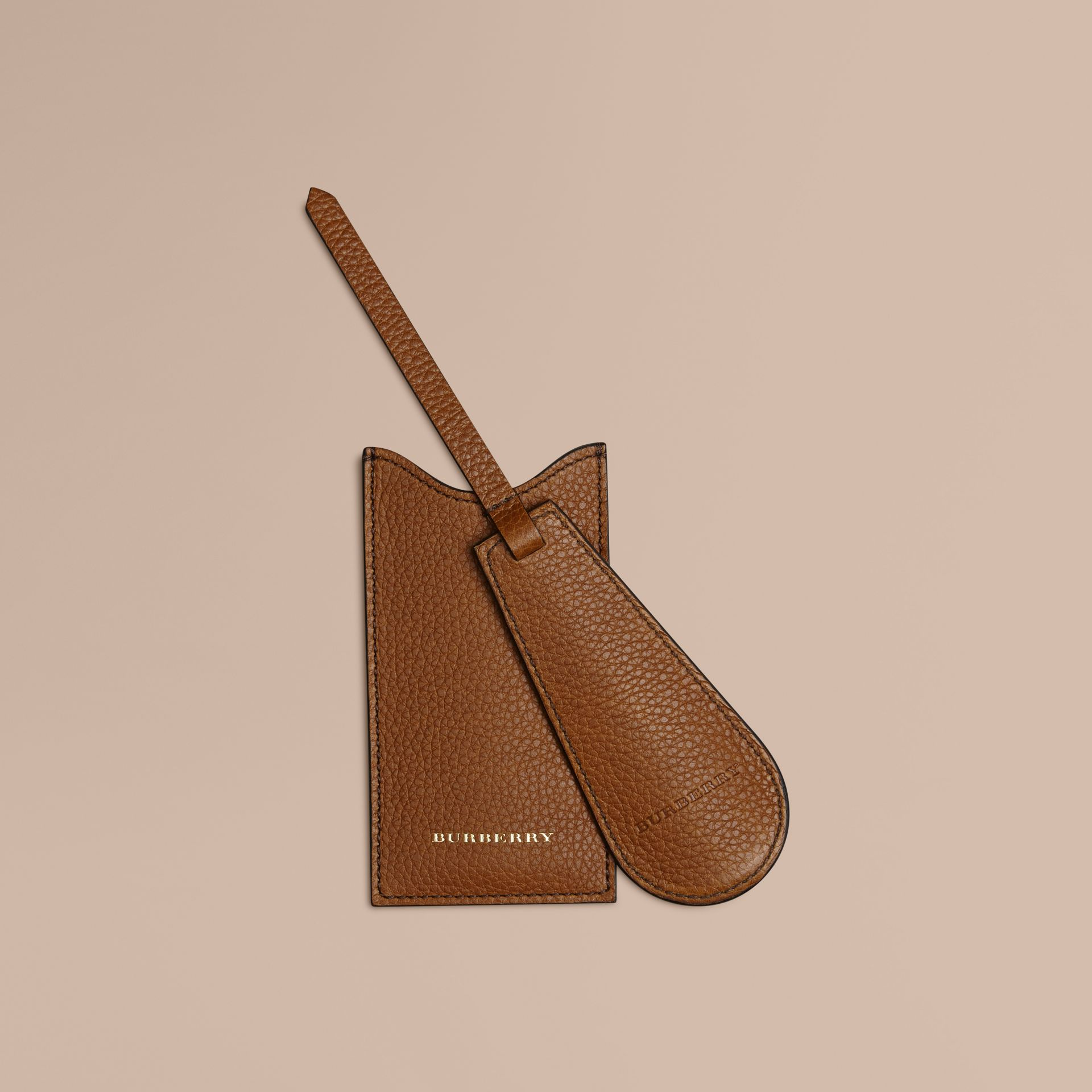 Leather Shoe Horn in Tan - Men | Burberry - gallery image 1