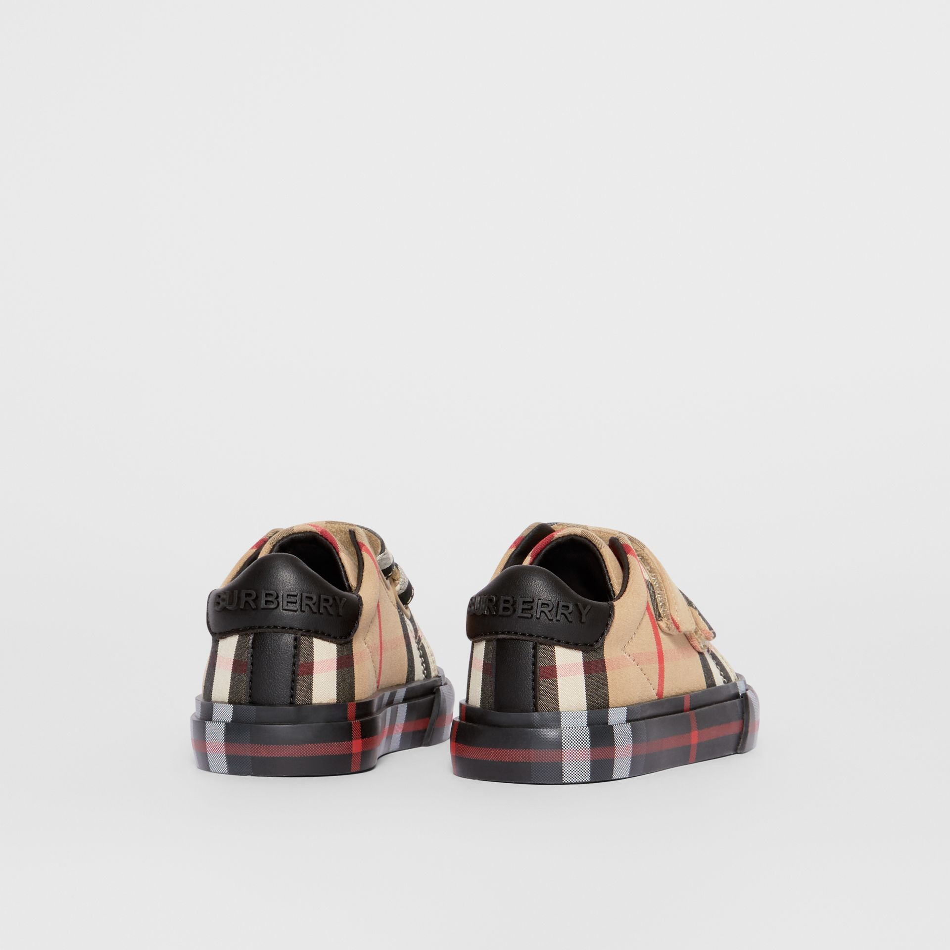 Vintage Check Cotton Sneakers in Archive Beige/black - Children | Burberry Hong Kong - gallery image 2
