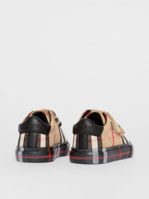 Vintage Check Cotton Sneakers in Archive Beige/black - Children | Burberry - cell image 2