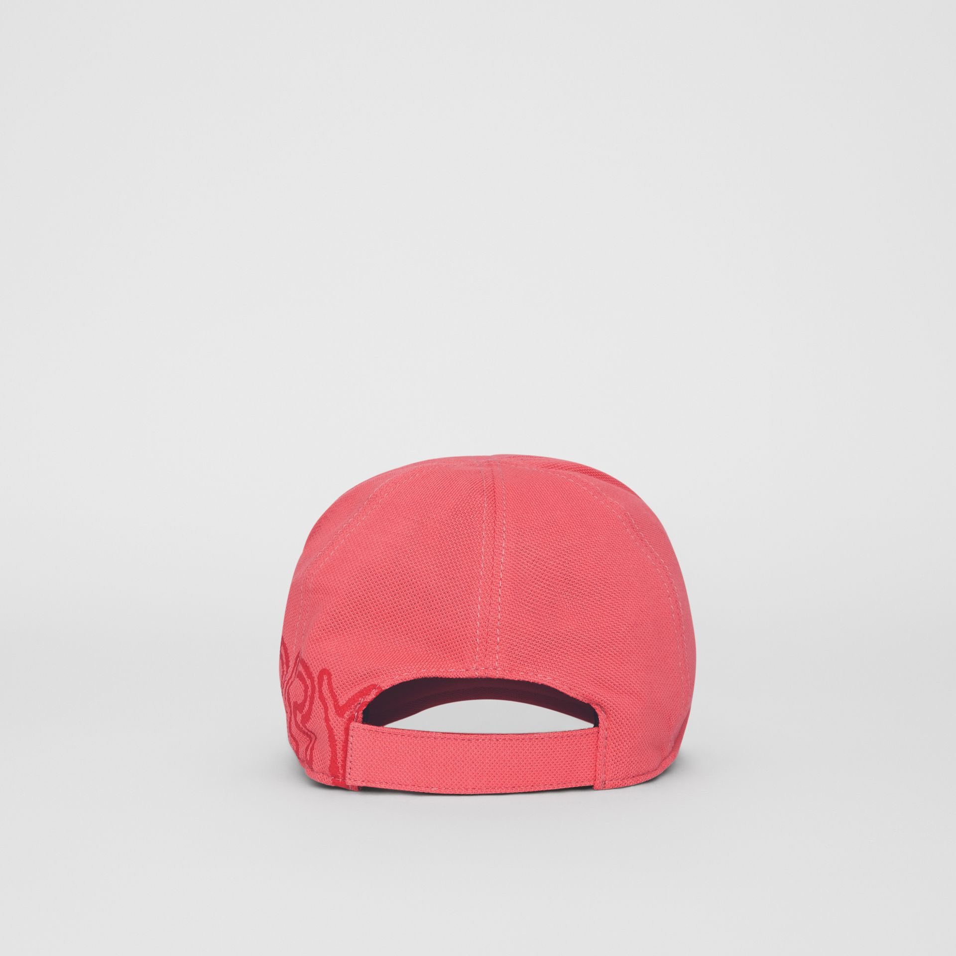 Stencil Logo Print Baseball Cap in Bright Pink/bright Red - Children | Burberry Australia - gallery image 2