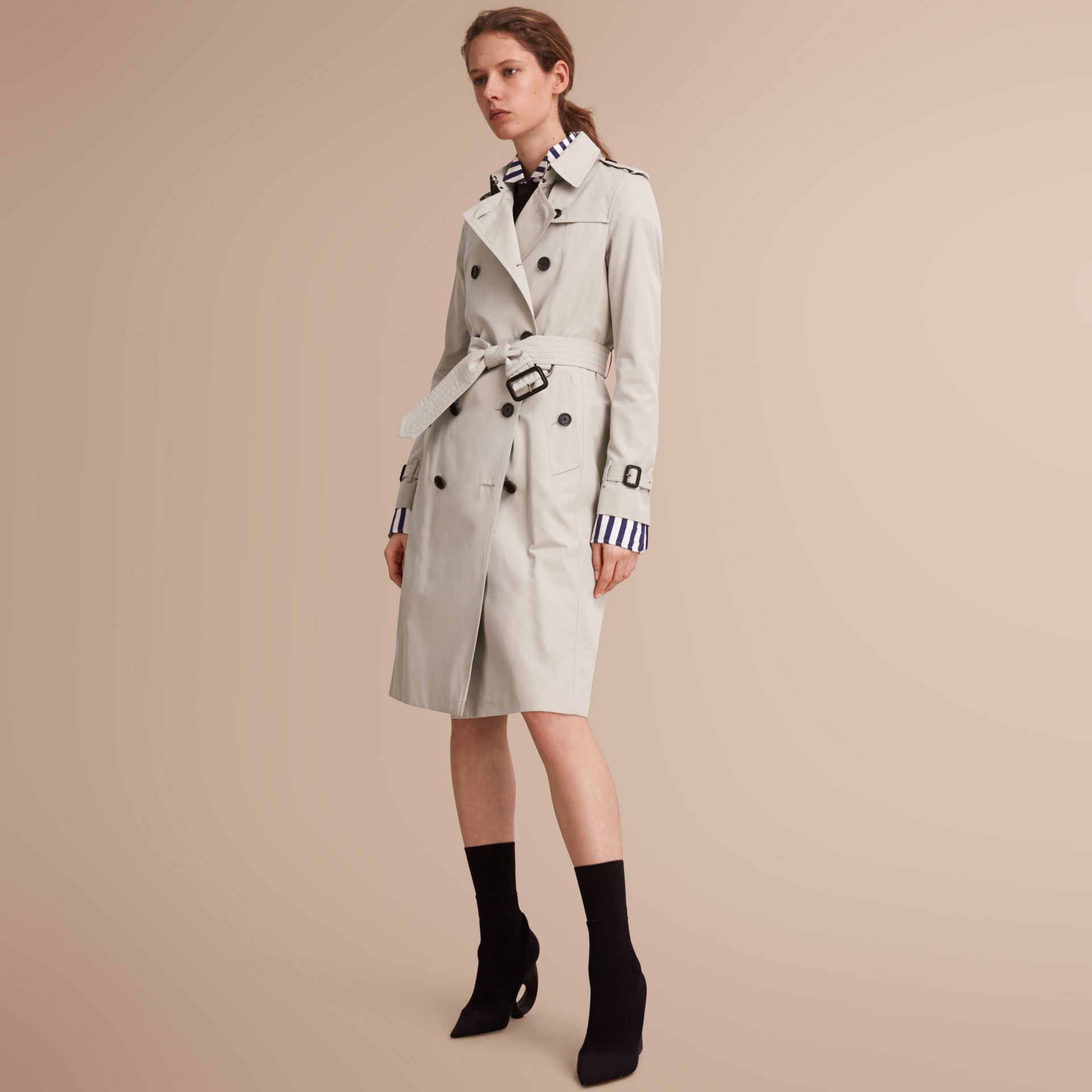 The Kensington – Extra-long Heritage Trench Coat Stone - gallery image 1