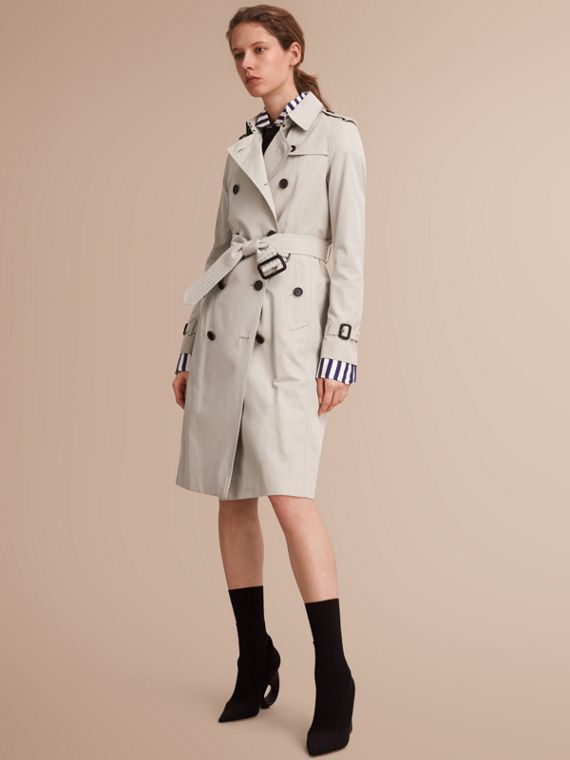 The Kensington – Extra-long Heritage Trench Coat Stone