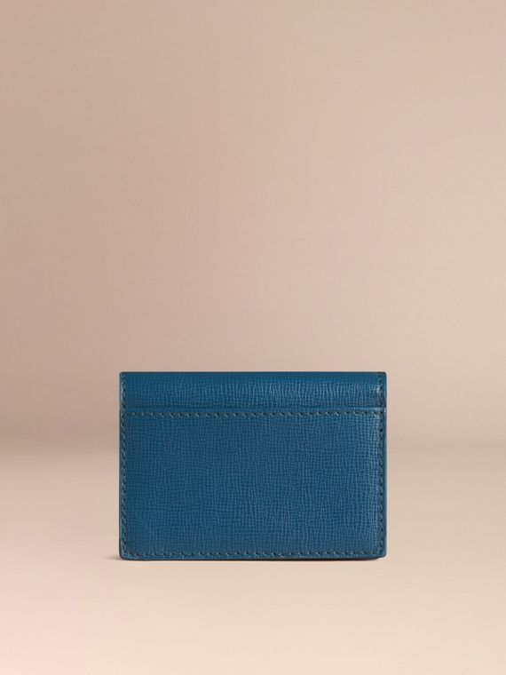 London Leather Folding Card Case Mineral Blue - cell image 2