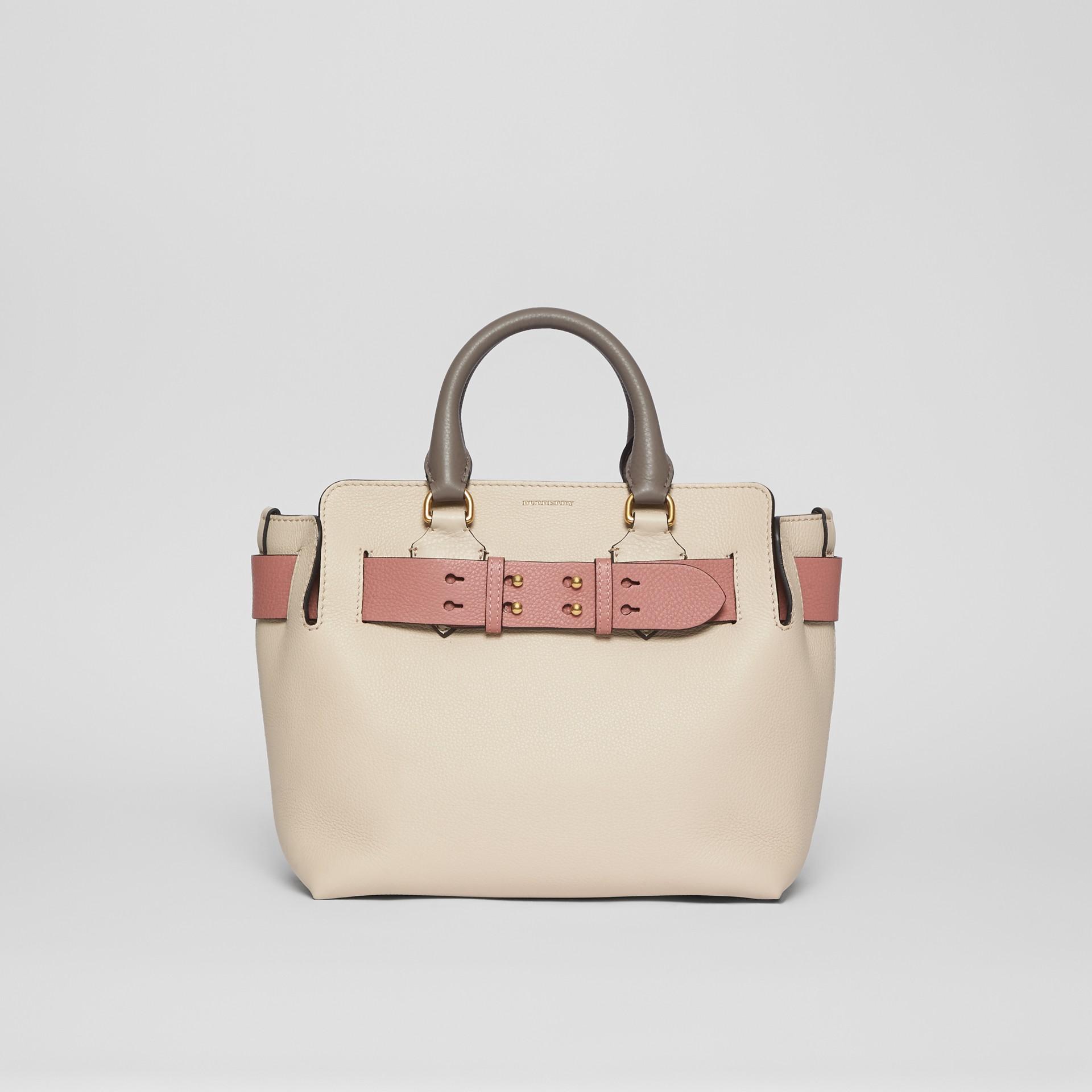 Petit sac TheBelt en cuir tricolore (Calcaire/rose Cendré) - Femme | Burberry - photo de la galerie 0