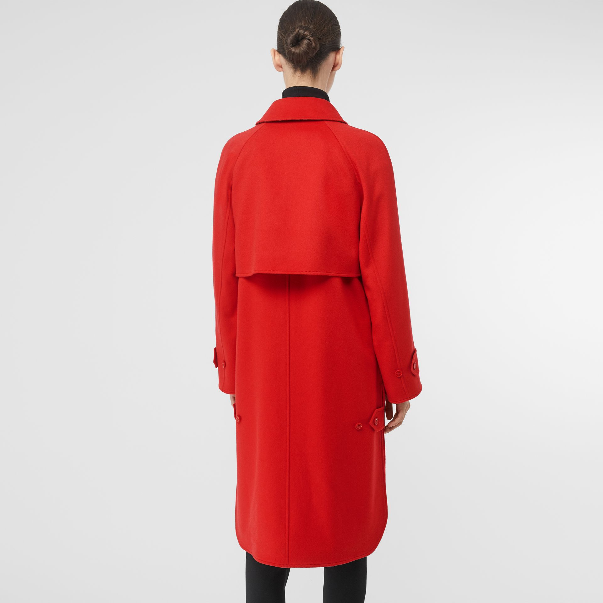 Cashmere Car Coat in Bright Red - Women | Burberry United Kingdom - gallery image 2