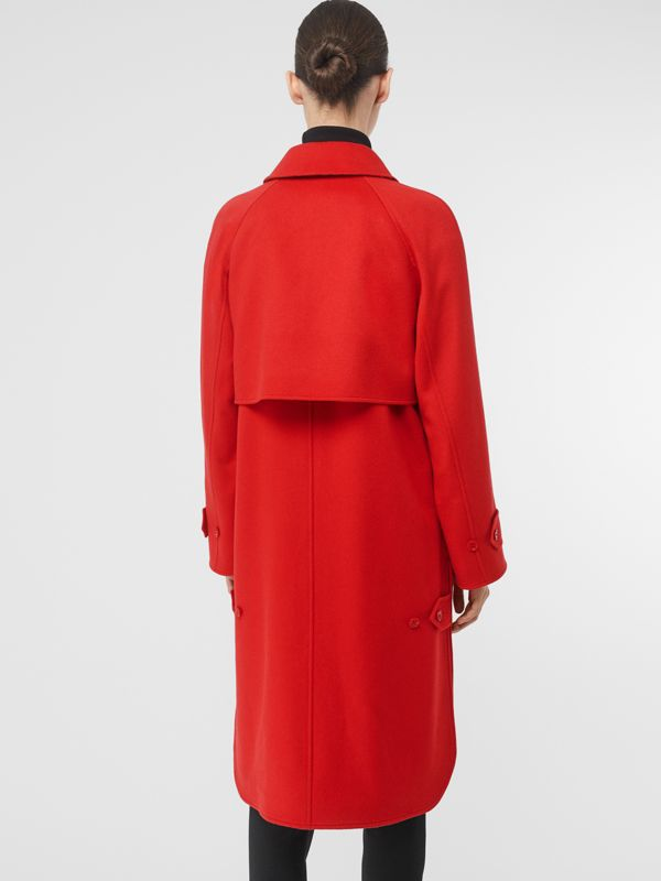 Cashmere Car Coat in Bright Red - Women | Burberry United Kingdom - cell image 2