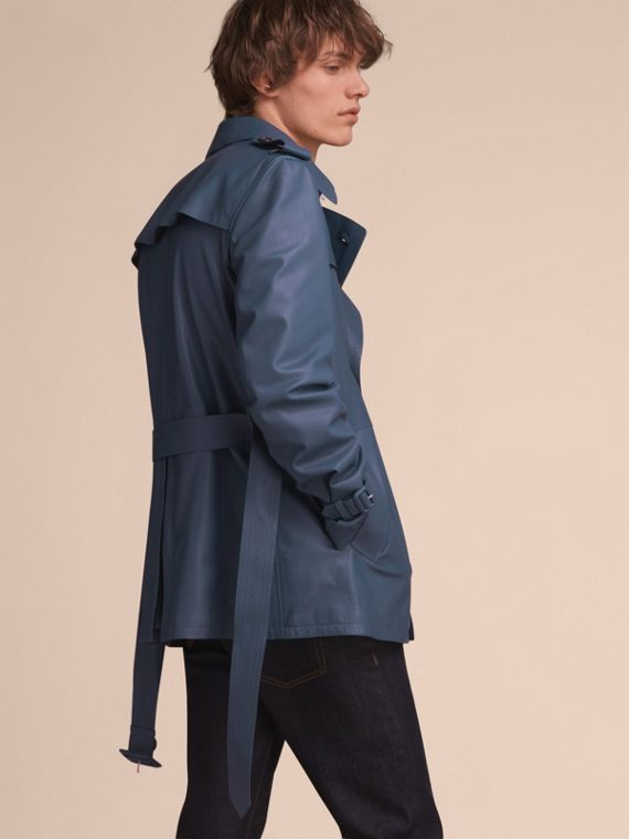 Short Leather Trench Coat - cell image 2
