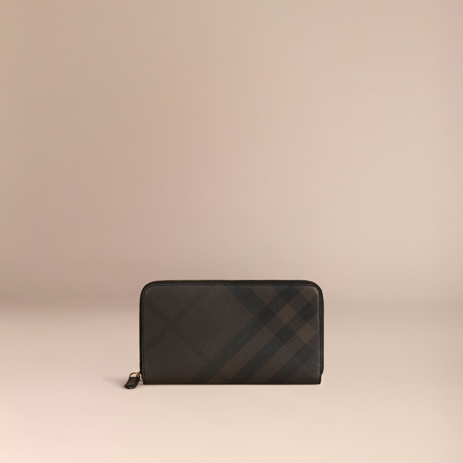 London Check Ziparound Wallet Chocolate/black - gallery image 3