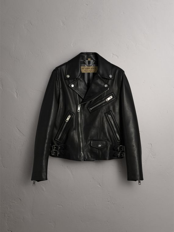 Leather Biker Jacket in Black - Men | Burberry Singapore - cell image 3