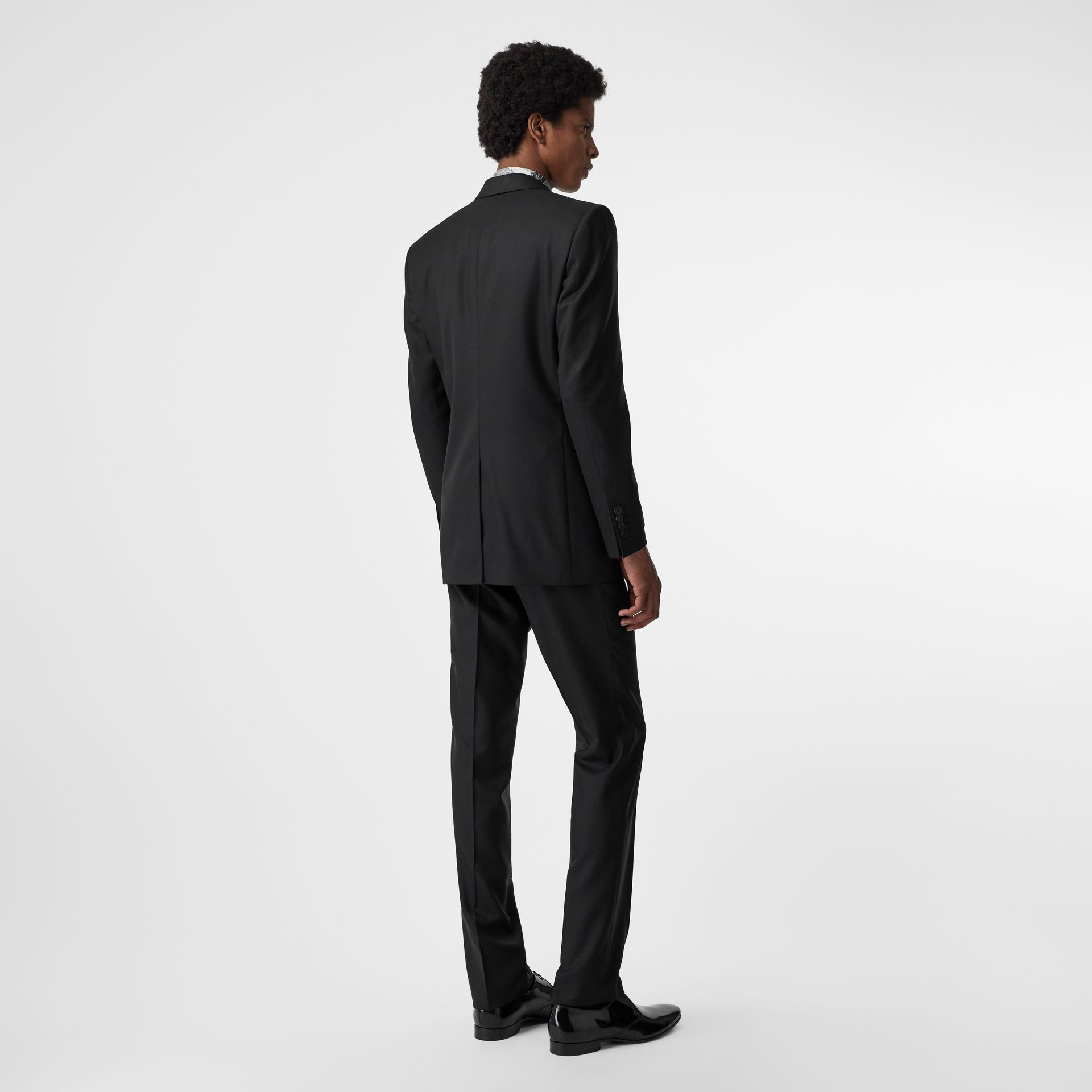 Classic Fit Wool Twill Suit in Black - Men | Burberry United Kingdom - gallery image 2