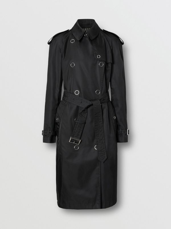 Press-stud Detail ECONYL® Trench Coat in Black - Women | Burberry Canada - cell image 3