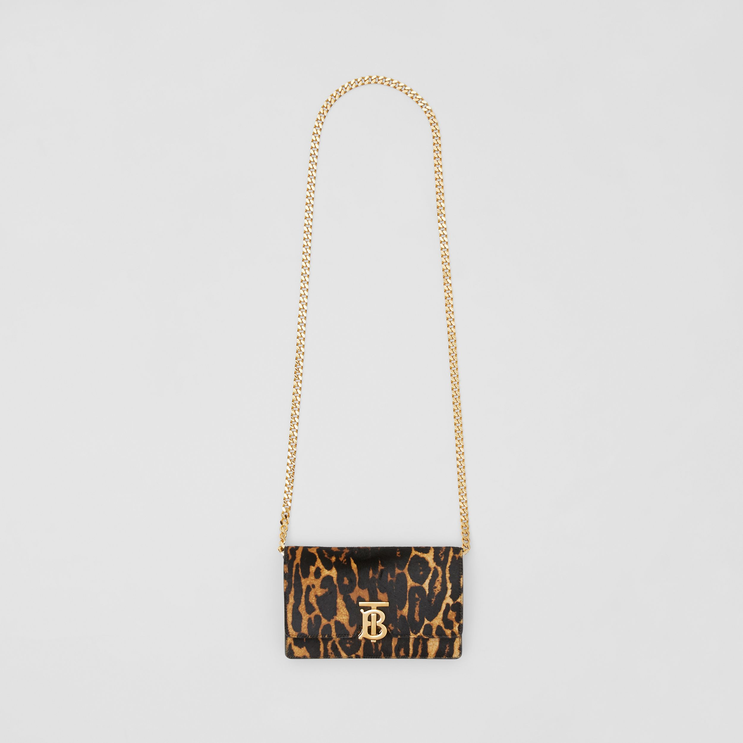 Small Leopard Print Calf Hair Shoulder Bag in Dark Mustard - Women | Burberry United States - 4