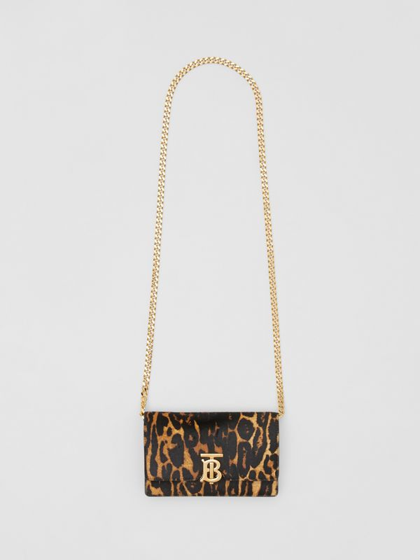 Small Leopard Print Calf Hair Shoulder Bag in Dark Mustard - Women | Burberry United Kingdom - cell image 3