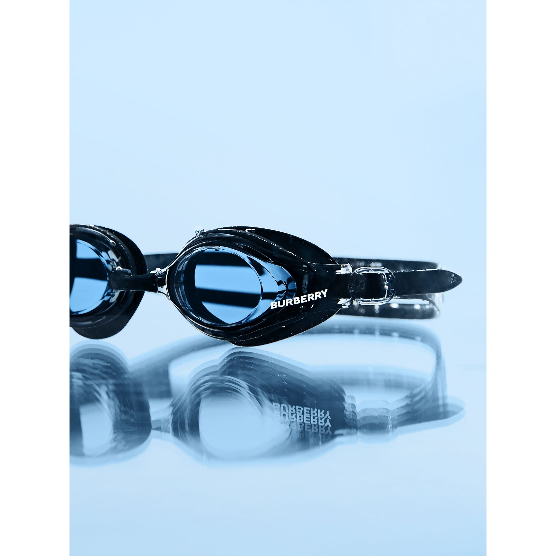 Logo Print Swimming Goggles in Black | Burberry Hong Kong S.A.R - gallery image 4