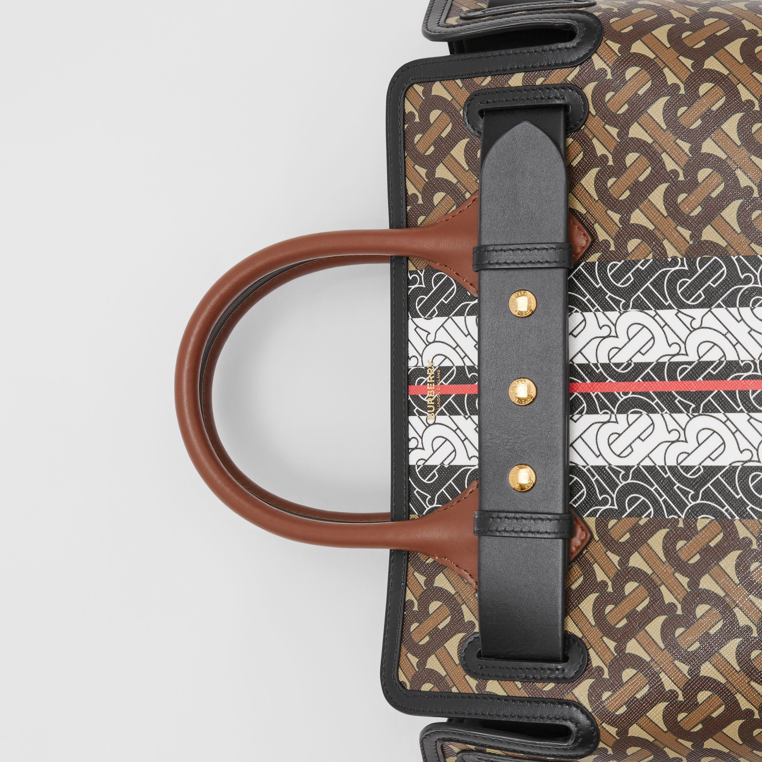 The Small Belt Bag aus Eco-Canvas mit Monogrammmuster im Streifendesign (Lederbraun) - Damen | Burberry - 2