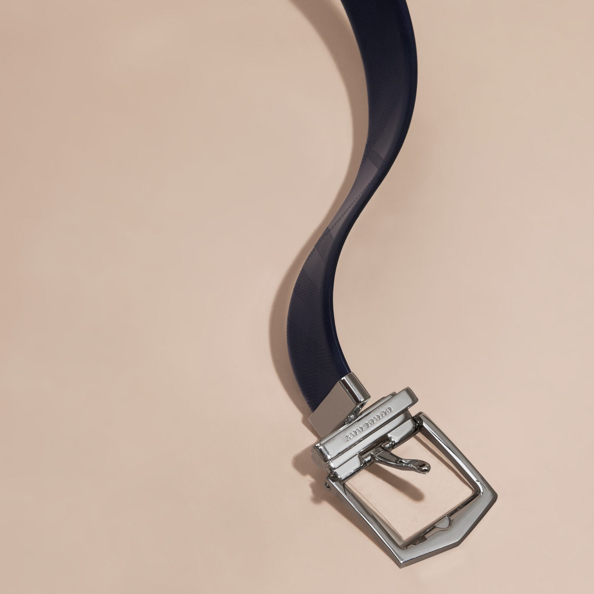 Reversible Leather Belt Dark Navy/black - gallery image 2