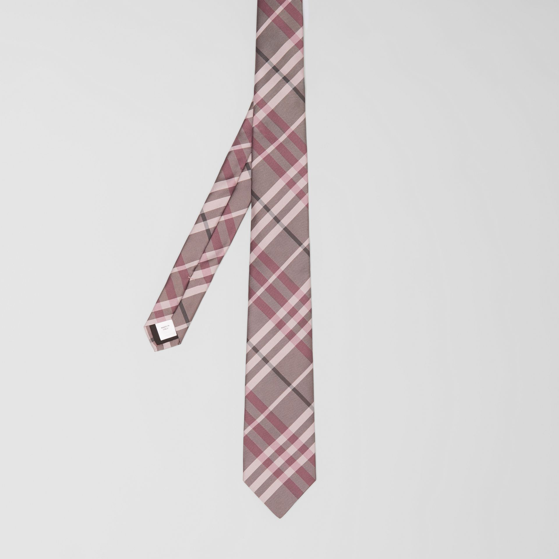 Classic Cut Vintage Check Silk Tie in Chalk Pink - Men | Burberry - gallery image 4