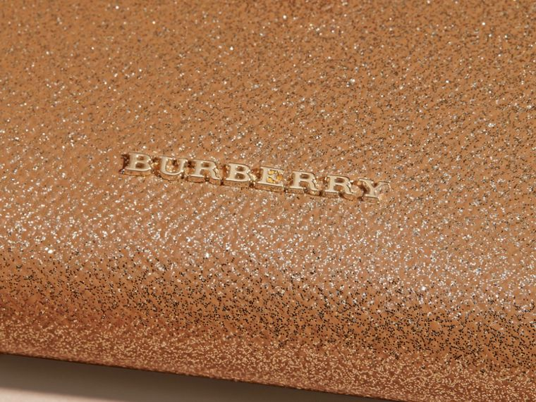 Glitter Patent London Leather Wallet in Camel / Gold - cell image 1