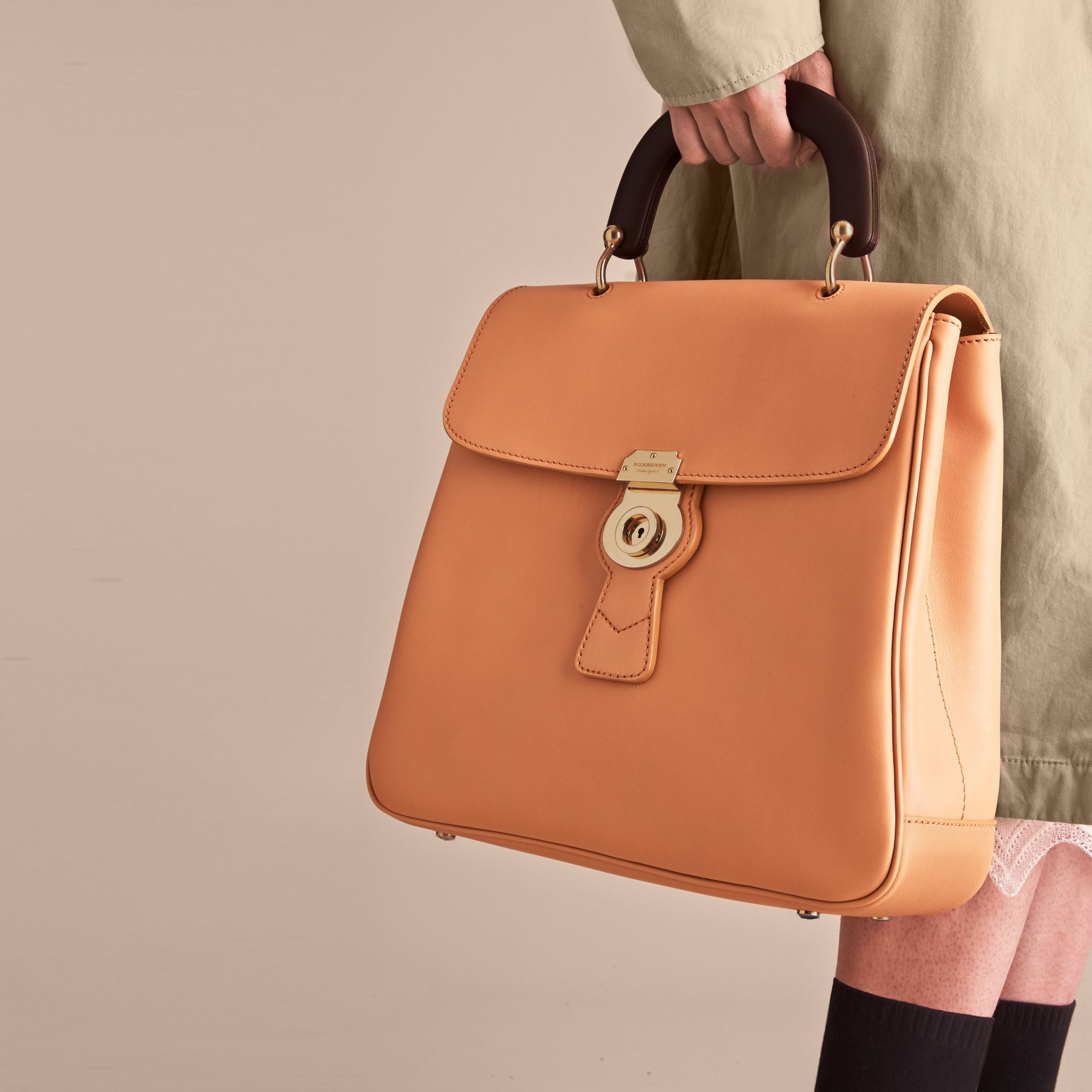 The Large DK88 Top Handle Bag in Pale Clementine - Women | Burberry Singapore - gallery image 8