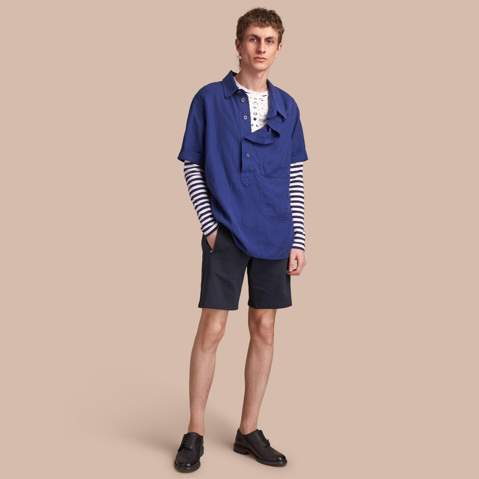 Lightweight Cotton Jersey Shorts - gallery image 1