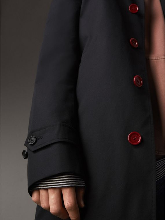 Resin Button Cotton Gabardine Car Coat in Navy - Men | Burberry - cell image 3