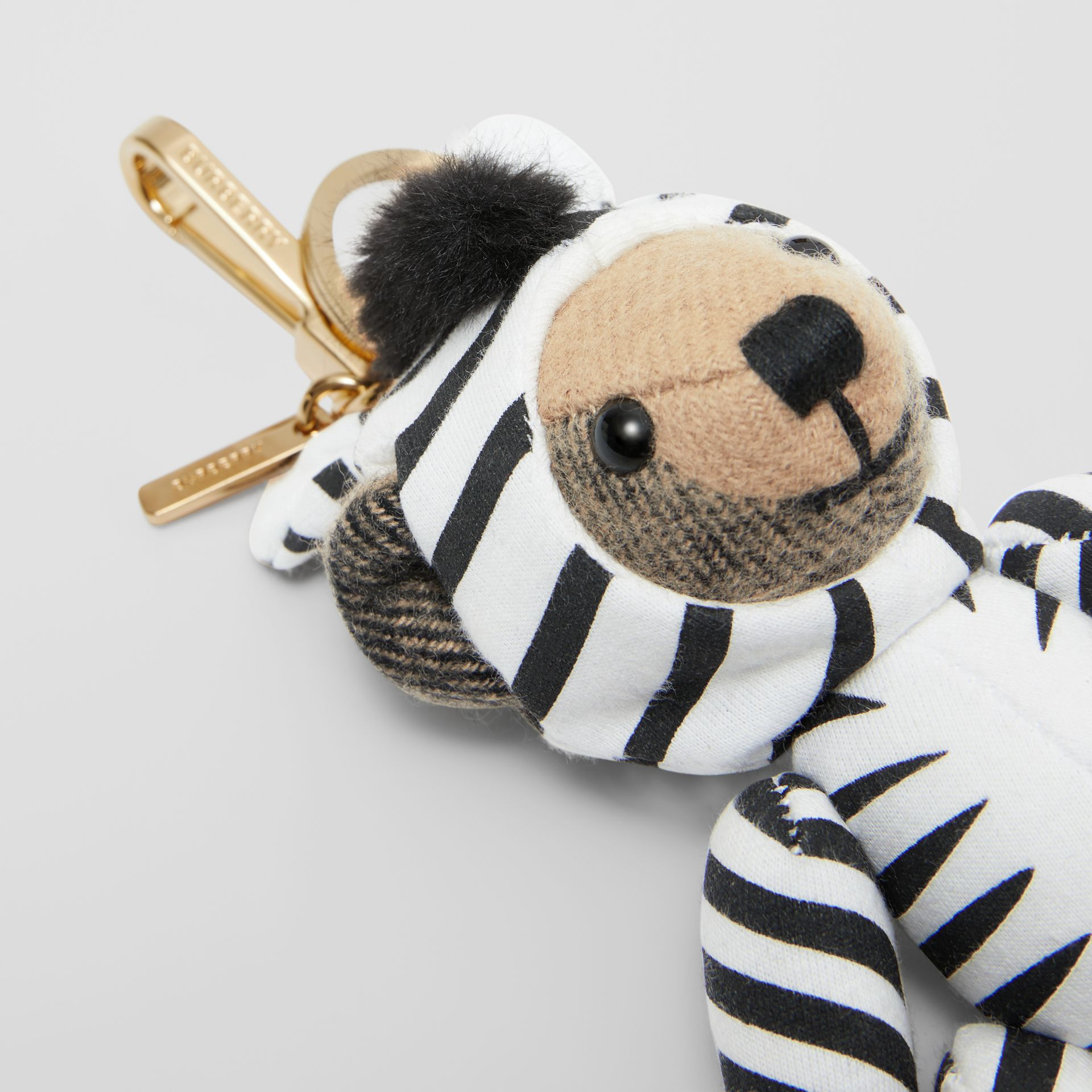 Thomas Bear Charm in Zebra Costume in Archive Beige - Women | Burberry - gallery image 1