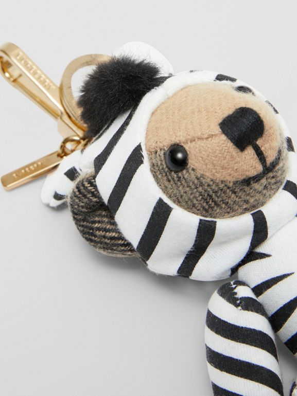 Thomas Bear Charm in Zebra Costume in Archive Beige - Women | Burberry - cell image 1